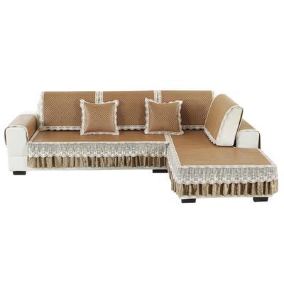 夏季冰丝沙发垫防滑凉席垫欧式客厅夏天藤席坐垫子皮沙发套罩藤席