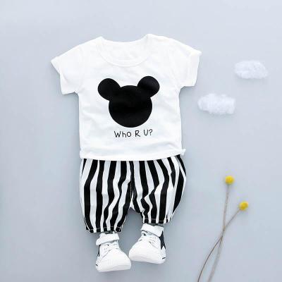 宝宝夏装女1-3岁潮儿童纯棉衣服套装男童潮流韩版时尚两件套2帅气