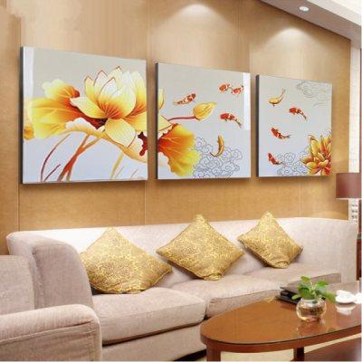森林吉祥鹿纳米冰晶玻璃客厅沙发背景墙壁挂画卧室床头后情调装饰