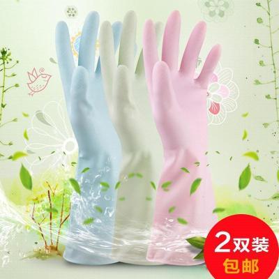 夏季搞卫生手套女耐用家务清洁塑胶防水橡胶家用手套洗碗掌柜推荐