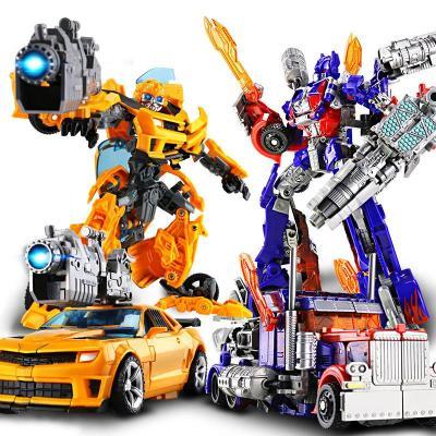 变形金刚5玩具擎天柱大黄蜂电影版模型汽车机器人合金板儿童礼物4