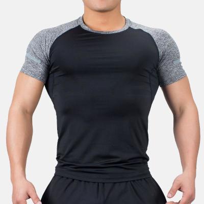 夏运动速干健身紧身衣男健身衣跑步篮球快干弹力透气修身短袖t恤