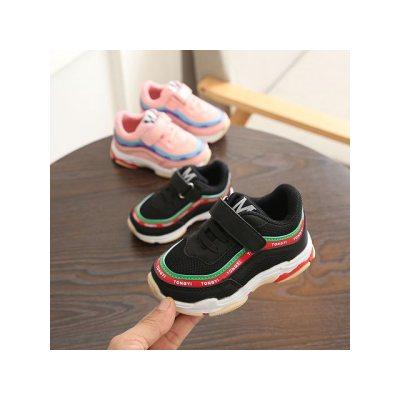 运动鞋女2018新款学生儿童鞋运动鞋网鞋中小童旅游鞋韩版宝宝鞋夏