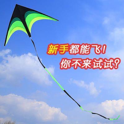 201超大倒转风筝长尾三角形简约骨架易飞面料手持风筝翼龙便携