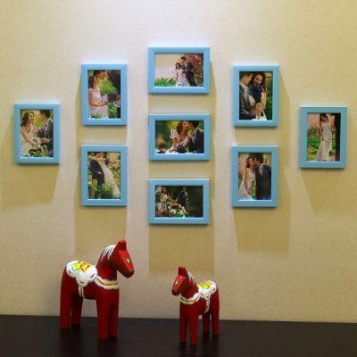 10色可选 9个5寸7寸相框 九宫格照片墙相框组合 创意时尚简约相片