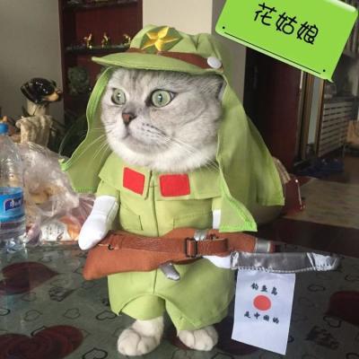 宠物狗狗猫咪衣服变身装直立装搞怪鬼子装搞笑警长装日本狗服饰