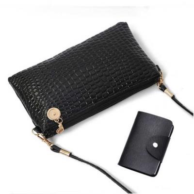 (送卡包)新款鳄鱼纹小包韩版单肩包斜跨女包手机包小方包零钱包