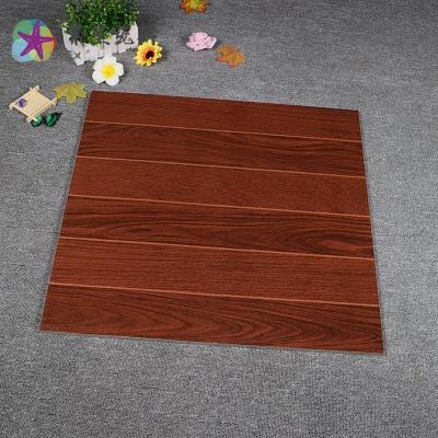 爆款佛山酒红色木纹砖600x600地砖客厅卧室瓷砖仿实木地板砖防滑