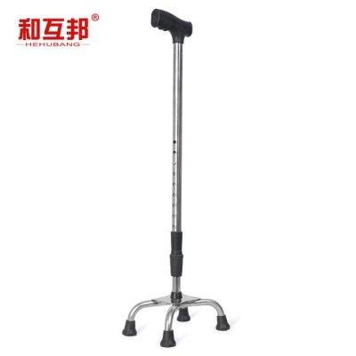拐杖带灯互换椅锈钢不锈钢器人杖小老人角手超轻四脚手杖老人拐棍