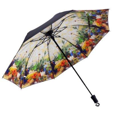 风2018汽车雨伞晴雨天太阳伞纯色黄色简约长柄伞可爱紫色遮阳伞